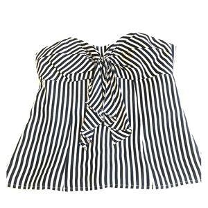Nanette Lepore Silk Strapless Top